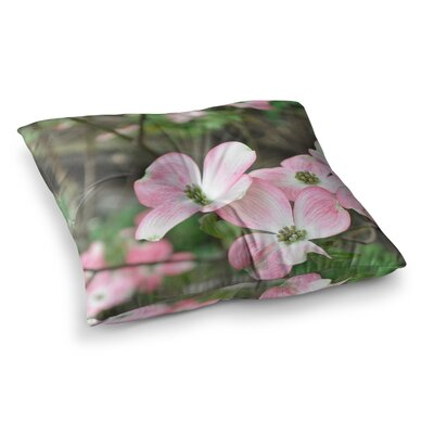 Spring Flowering Dogwood by Jennifer Rizzo Floor Pillow Size: 23 x 23