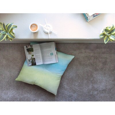 Watercolor Paint Stripe by Jennifer Rizzo Floor Pillow Size: 26 x 26