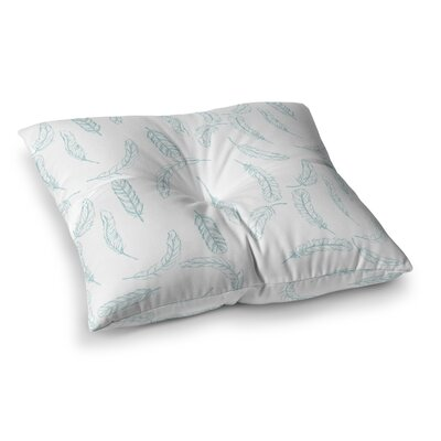 Floating Feathers by Jennifer Rizzo Floor Pillow Size: 26 x 26