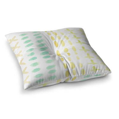 Dots and Dashes by Jennifer Rizzo Floor Pillow Size: 23 x 23