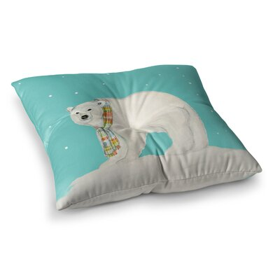 Chilly Snow Bear by Jennifer Rizzo Floor Pillow Size: 26 x 26