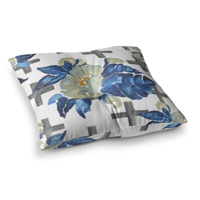 Plus Sign Floral by Jennifer Rizzo Floor Pillow Size: 26 x 26