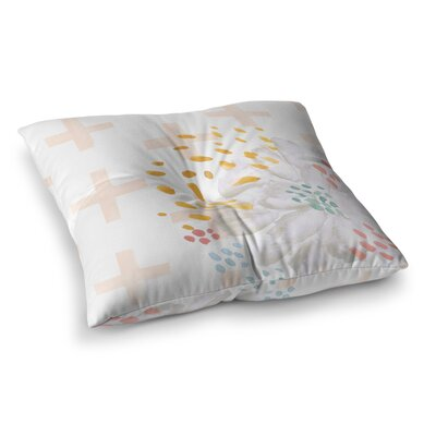 Bright and Pretty Floral by Jennifer Rizzo Floor Pillow Size: 26 x 26