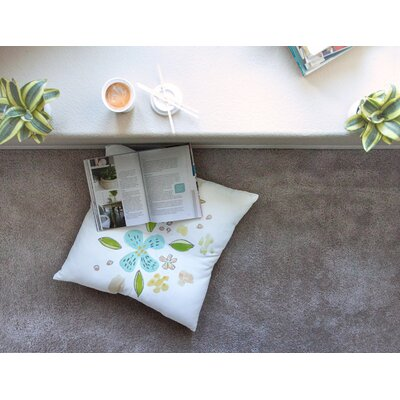 Happy Flower Dance Floral by Jennifer Rizzo Floor Pillow Size: 23 x 23