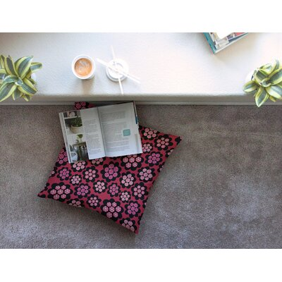 Garden Pods Repeat Floral by Jane Smith Floor Pillow Size: 26 x 26