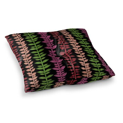 Garden Vine and Leaf by Jane Smith Floor Pillow Size: 26 x 26