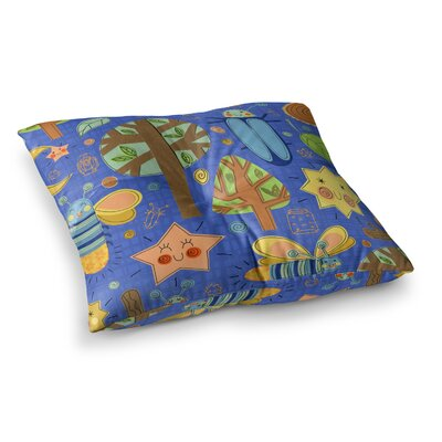 Lightning Bug by Jane Smith Floor Pillow Size: 26 x 26
