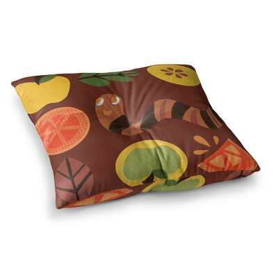 Autumn Repeat Bugs by Jane Smith Floor Pillow Size: 23 x 23