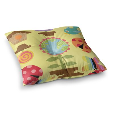 Spring Repeat by Jane Smith Floor Pillow Size: 23 x 23