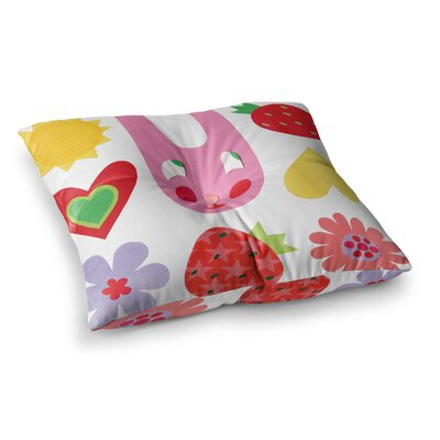 Summer Repeat by Jane Smith Floor Pillow Size: 26 x 26