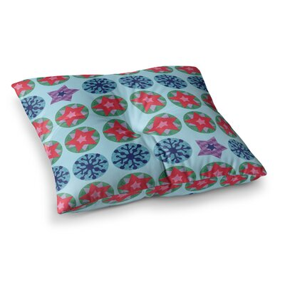 Seasons Winter by Jane Smith Floor Pillow Size: 26 x 26
