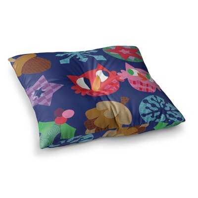 Winter Repeat by Jane Smith Floor Pillow Size: 26 x 26