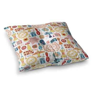 Vintage Games by Jane Smith Floor Pillow Size: 26 x 26