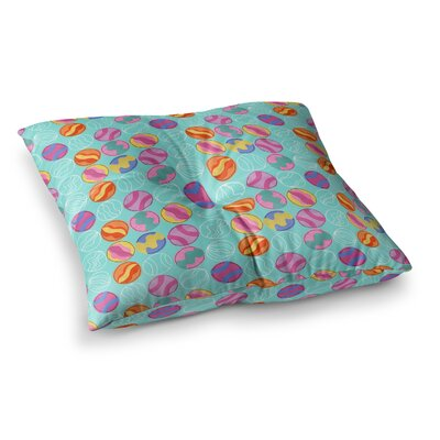 Vintage Playground III by Jane Smith Floor Pillow Size: 23 x 23