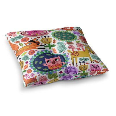 Woodland Critters by Jane Smith Floor Pillow Size: 26 x 26