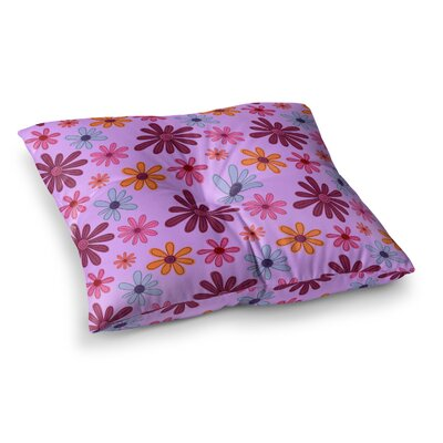 Woodland Floral by Jane Smith Floor Pillow Size: 26