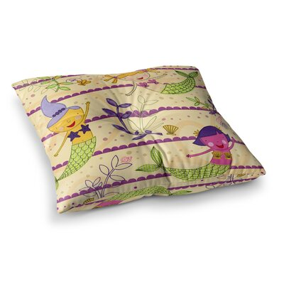 Under the Sea by Jane Smith Floor Pillow Size: 23 x 23