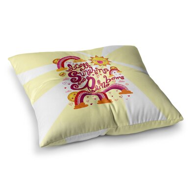 Its All Sunshine and Rainbows by Jane Smith Floor Pillow Size: 26 x 26