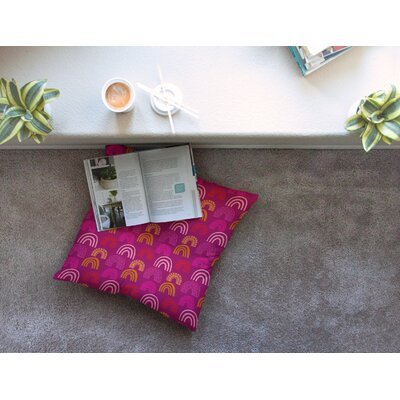 It's All Rainbow by Jane Smith Floor Pillow Size: 23