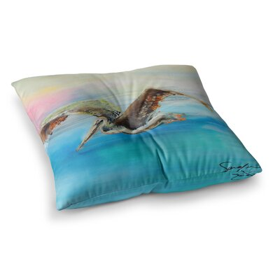 Coast Ocean Bird by Josh Serafin Floor Pillow Size: 26 x 26