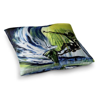 Greenroom Surfer by Josh Serafin Floor Pillow Size: 26 x 26