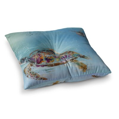 Home Sweet Home by Josh Serafin Floor Pillow Size: 26 x 26