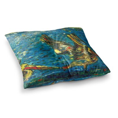 Seabirds by Josh Serafin Floor Pillow Size: 26 x 26