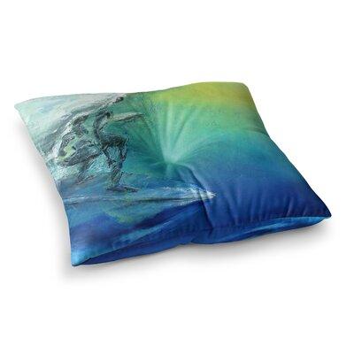 September High by Josh Serafin Floor Pillow Size: 23 x 23