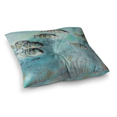 Surf Perch by Josh Serafin Floor Pillow Size: 23 x 23