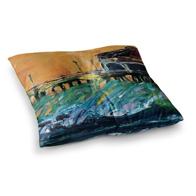 Offshore Beauty by Josh Serafin Floor Pillow Size: 23 x 23