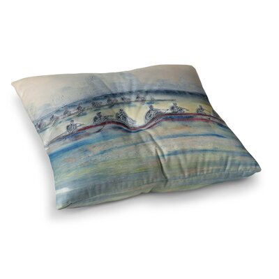 Crew Rowing by Josh Serafin Floor Pillow Size: 26 x 26