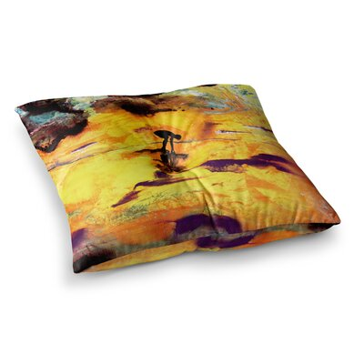 Pool of Life Abstract by Josh Serafin Floor Pillow Size: 23 x 23