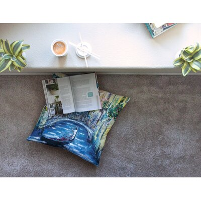 Venice Travel Italy by Josh Serafin Floor Pillow Size: 23 x 23