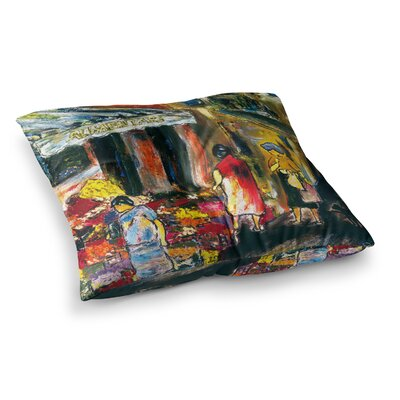 Alimentari Painting by Josh Serafin Floor Pillow Size: 26 x 26