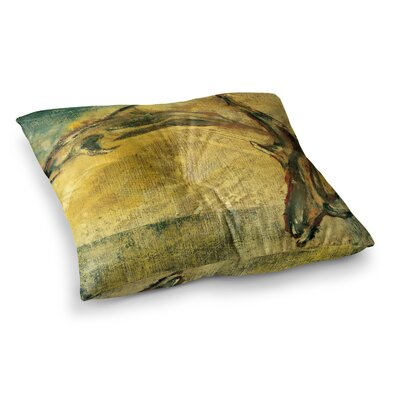 No Reason to Hide by Josh Serafin Floor Pillow Size: 26 x 26