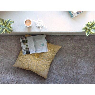 Mandala Spin Latte by Patternmuse Floor Pillow Size: 23 x 23