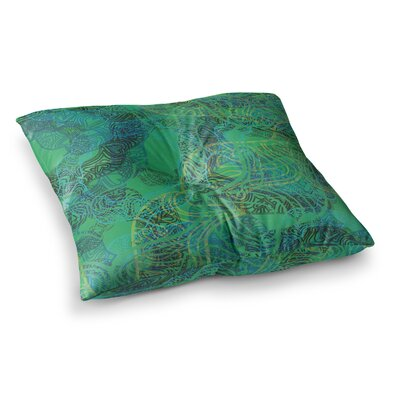 Mandala by Patternmuse Floor Pillow Size: 23 x 23, Color: Green