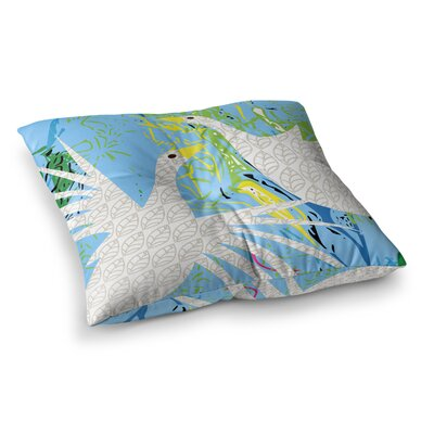 Pond Birds by Pattern Muse Floor Pillow Size: 26 x 26