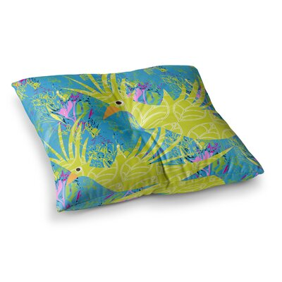 Tropical Fly-by by Pattern Muse Floor Pillow Size: 23 x 23