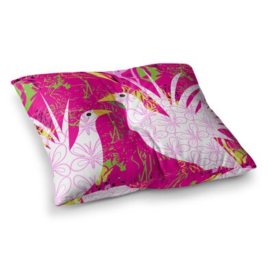 Fruit Birds by Pattern Muse Floor Pillow Size: 23 x 23