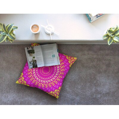 Radiant Pomegranate by Pattern Muse Floor Pillow Size: 23 x 23
