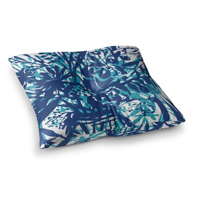 Inky Floral Painting by Patternmuse Floor Pillow Size: 23 x 23