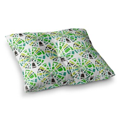 Precious Illustration by Patternmuse Floor Pillow Size: 26 x 26, Color: Olive/Green