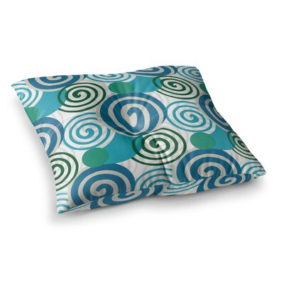 Dynamic Swirls Digital by Patternmuse Floor Pillow Size: 23 x 23