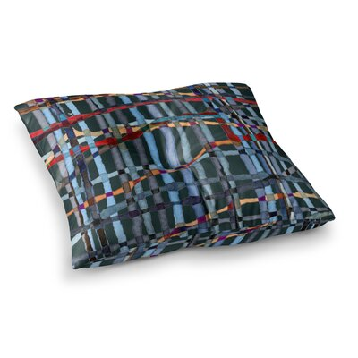 Midnight Bamboo Painting by Patternmuse Floor Pillow Size: 23 x 23