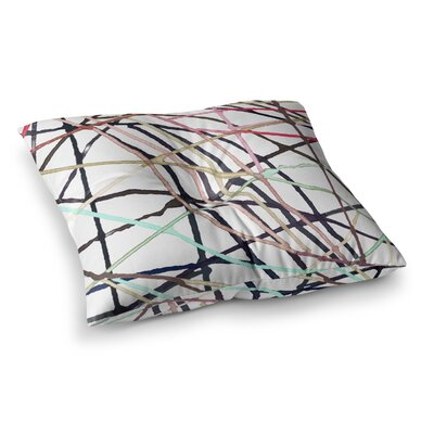 Love Tangle Watercolor by Patternmuse Floor Pillow Size: 26 x 26