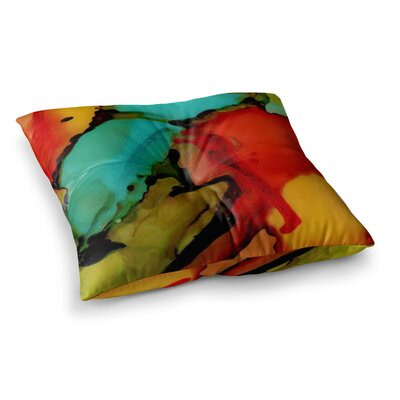 Caldera #1 by Abstract Anarchy Design Floor Pillow Size: 23 x 23