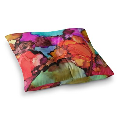 Caldera #3 by Abstract Anarchy Design Floor Pillow Size: 23 x 23
