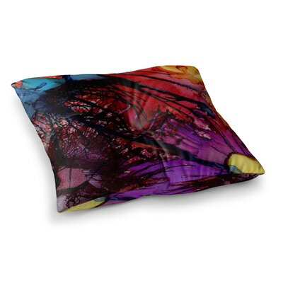 Daisy by Abstract Anarchy Design Floor Pillow Size: 26 x 26