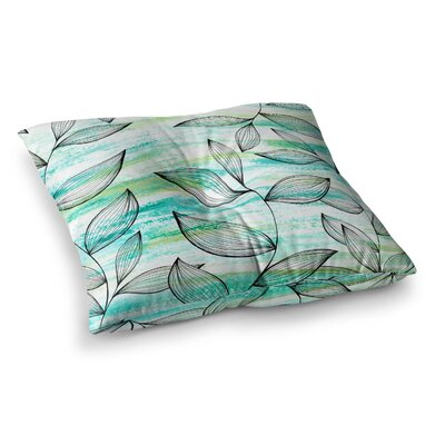 Tropical Leaf Garden by Jessica Wilde Floor Pillow Size: 23 x 23